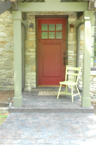 stamped concrete porch