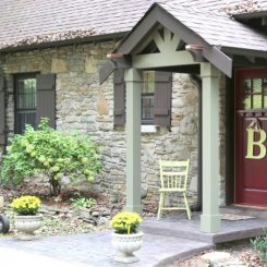 Fall Front Door Friday – Custom Color Selection by The Decorologist