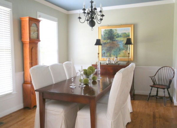 Gray Green Dining Room