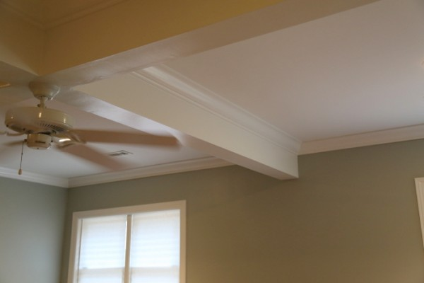 painted beam ceiling