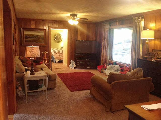 living room wood paneling the power of paint amazing wood paneling makeover the 16129