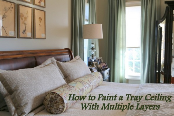 how to paint a tray with multiple layers