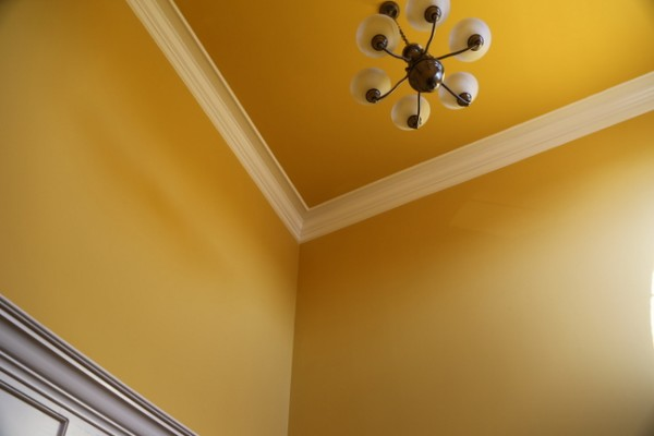 yellow ceiling