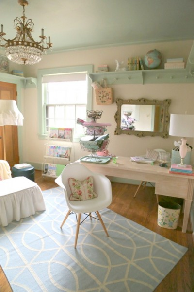 feminine retro home office