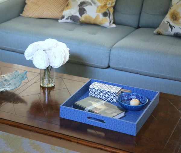 royal blue tray