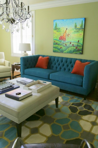 georgian green cobalt sofa
