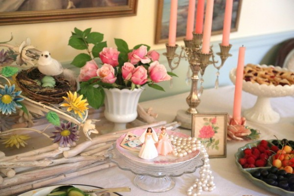 wedding shower tablescape