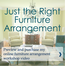 Just the Right Furniture Arrangement Button