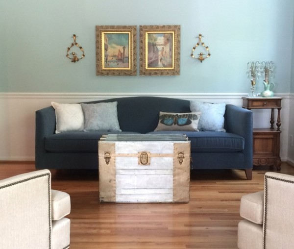 palladian blue eclectic living room
