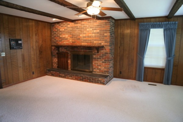 wood paneling before