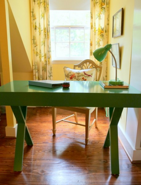 world market emerald green desk
