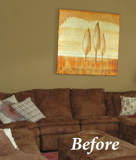 A Better Paint Color Behind A Dark Brown Sofa U2013 Try Elephant Gray