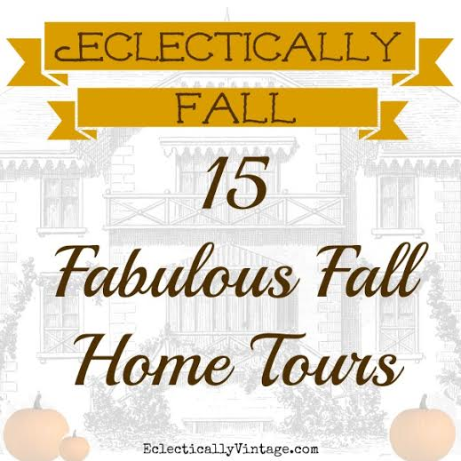 eclectically vintage fall home tour