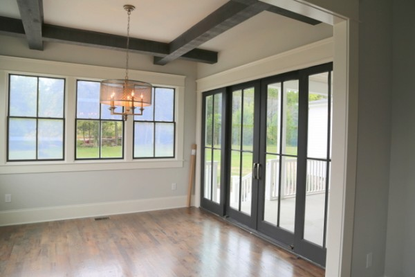 black wood beams windows french doors & Consider Black Windows and Doors To Punctuate Your Color Palette ...