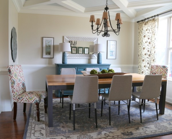 mismatched designer dining room