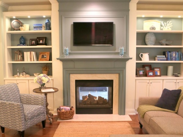 How To Make Your Tv Blend In Over The Fireplace The