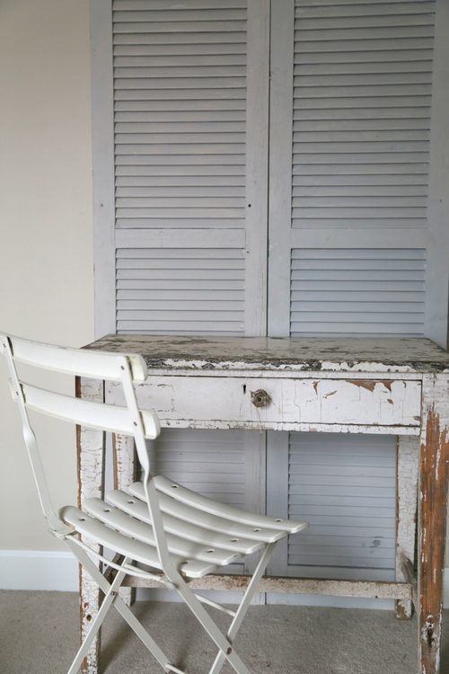 gray painted shutters
