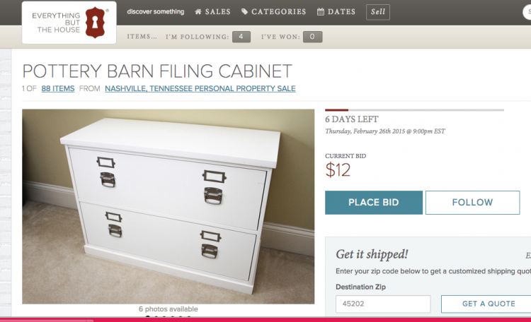 pottery barn filing cabinet