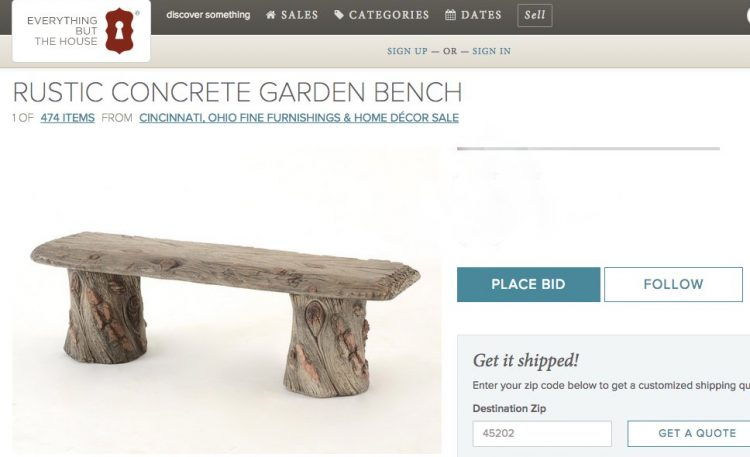 wood concrete outdoor bench