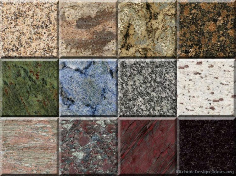 Types Of Blue Granite : Best granite countertops for cherry cabinets