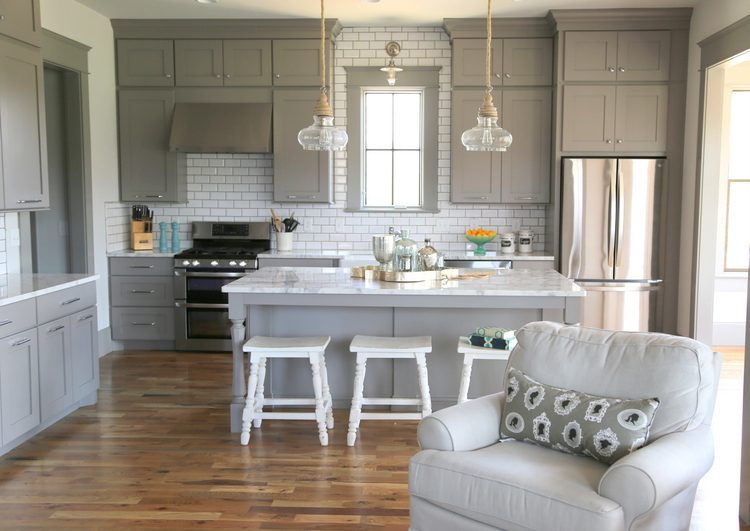 Designer Gray Kitchen Cabinets
