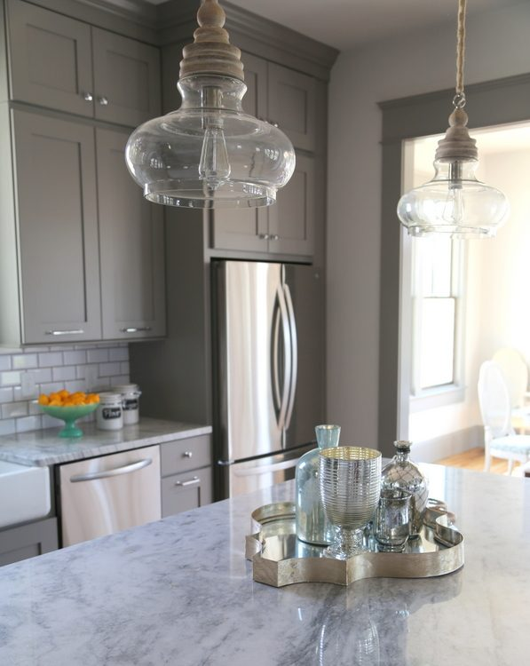 pewter gray kitchen cabinets