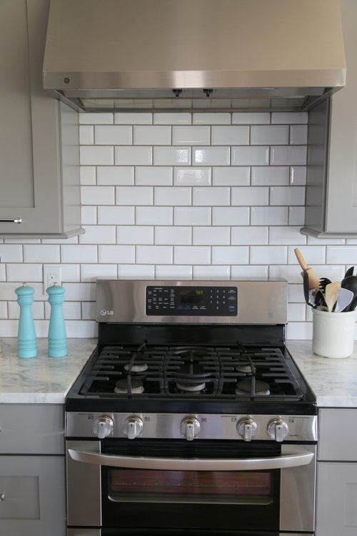 oven range backsplash accent tile