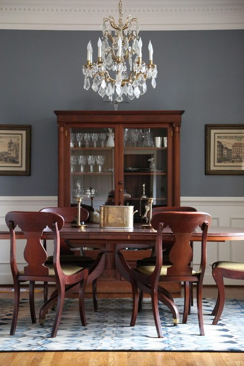 Ideas For Painting Dining Room Part - 37: Blue Dining Room Paint Color