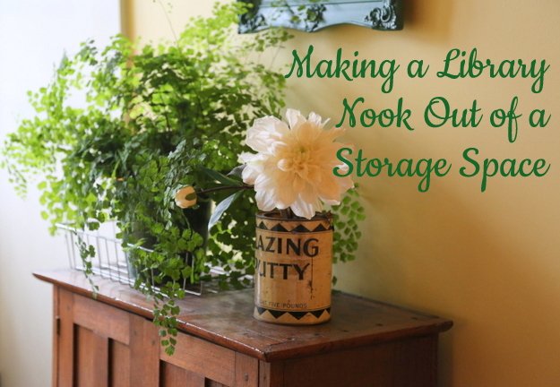 Making a Library Nook Out of a Storage Space