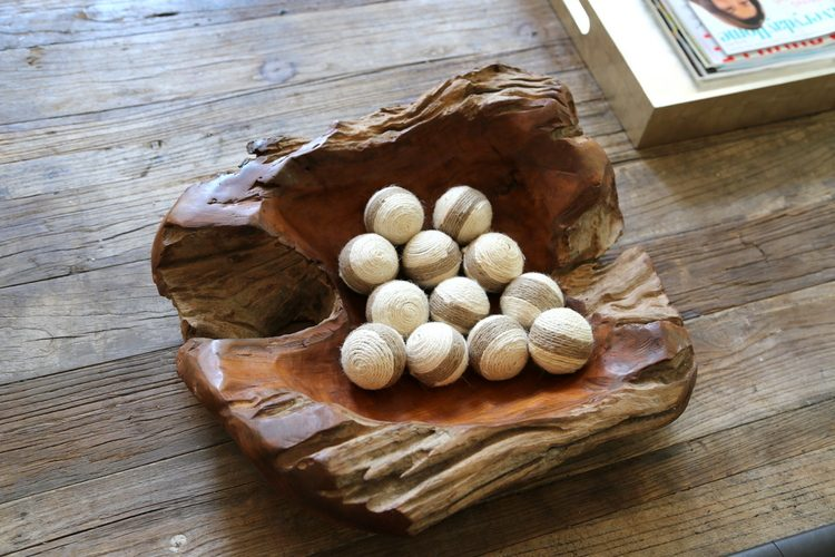 tablescape wooden bowl