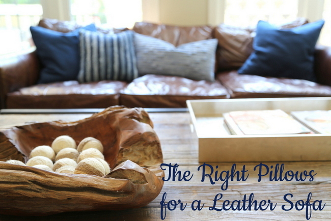 Right Pillows For Leather Sofa