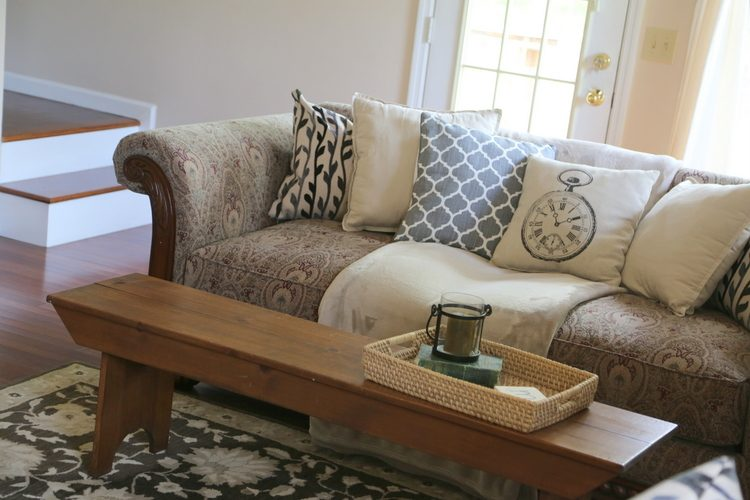 Updating a Dated Sofa Home Staging Trick from The Decorologist