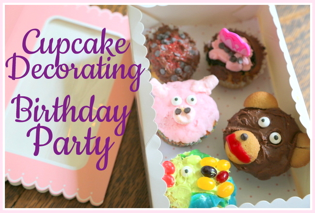 cupcake decorating birthday party theme