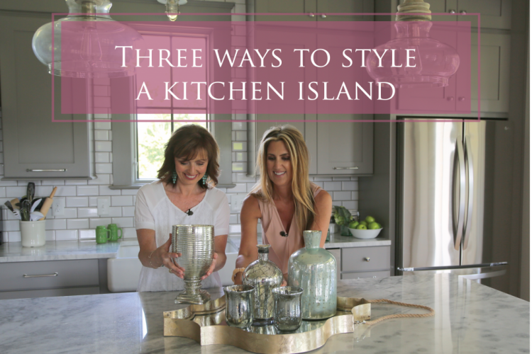 three ways to style a kitchen island