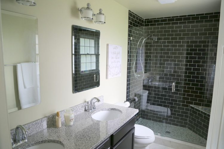 granite countertop in master bathroom