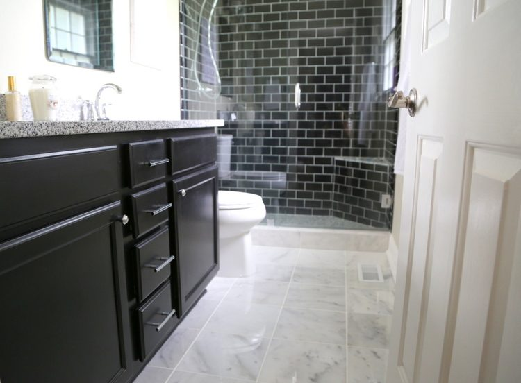 dark tile bathroom floor 4 reasons you should use black subway tile in your bathroom 18053