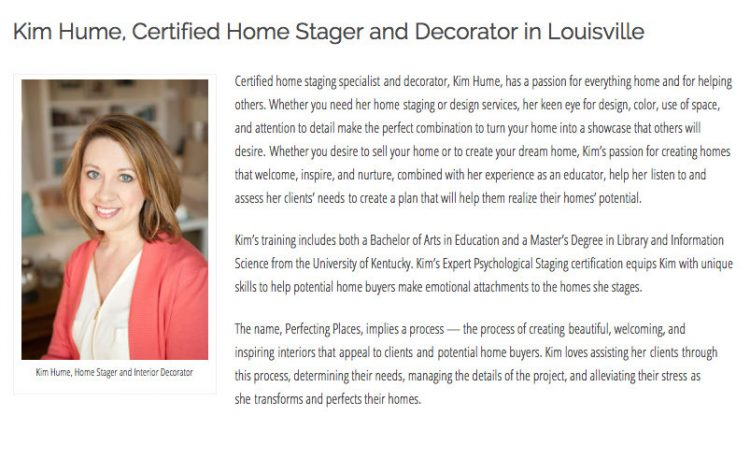 Expert Psychological Stager Kim Hume
