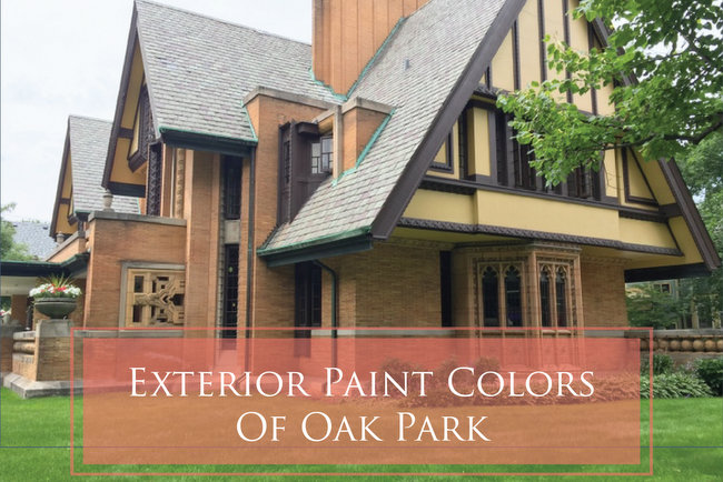 historic exterior paint colorsHistoric Paint Colors in Frank Lloyd Wrights Oak Park