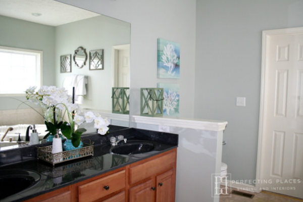perfecting places staged bathroom
