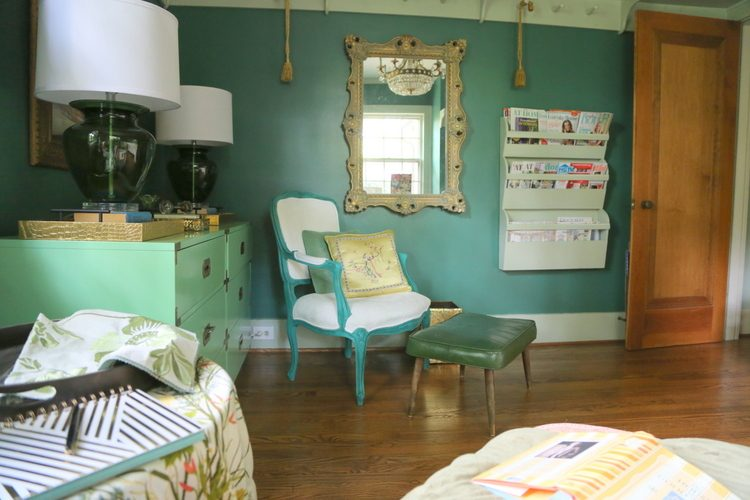 benjamin moore spinach green designer office