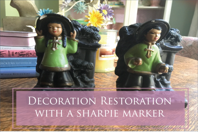 Decoration Restoration with a Common Sharpie Marker