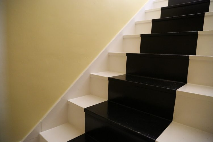 black stripe stairs
