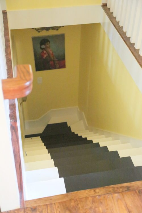 black stripe on stairs