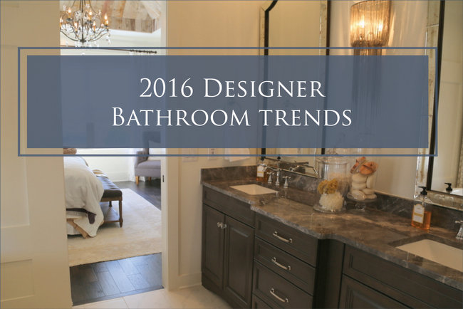 2016 designer bathroom trends