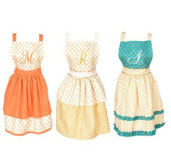 monogrammed aprons