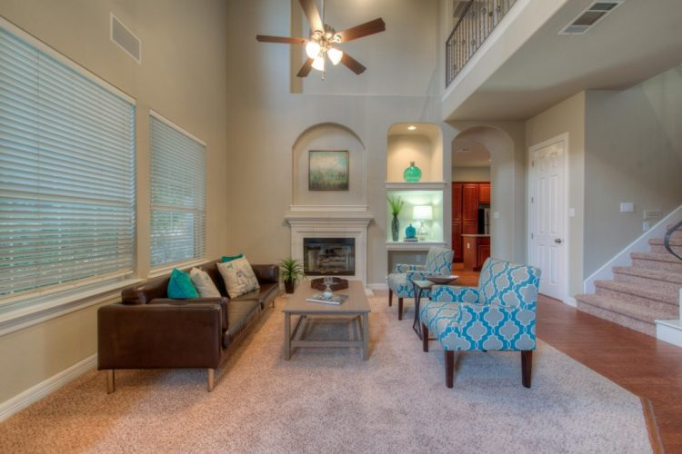 spyglass realty staged living room