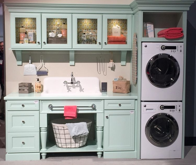 mint green laundry room kbis