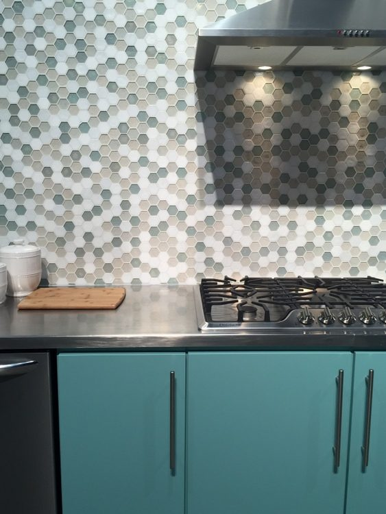 teal kitchen design