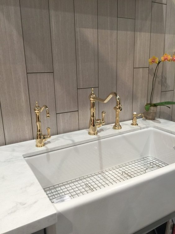 gold brass kitchen faucets