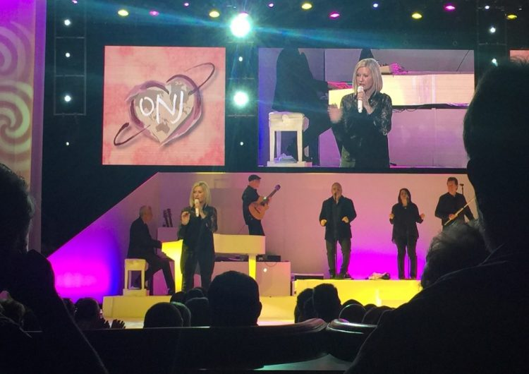 olivia newton john at the flamingo, las vegas